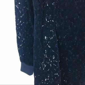 ASOS Dresses - Asos Black Velvet Lace Long Sleeve Shift Dress -2